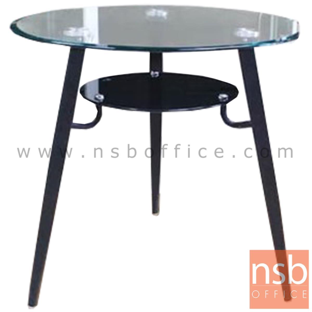 A09A138:โต๊ะกลมหน้ากระจก รุ่น MALLORCA (มายอก้า) ขนาด 80Di cm.