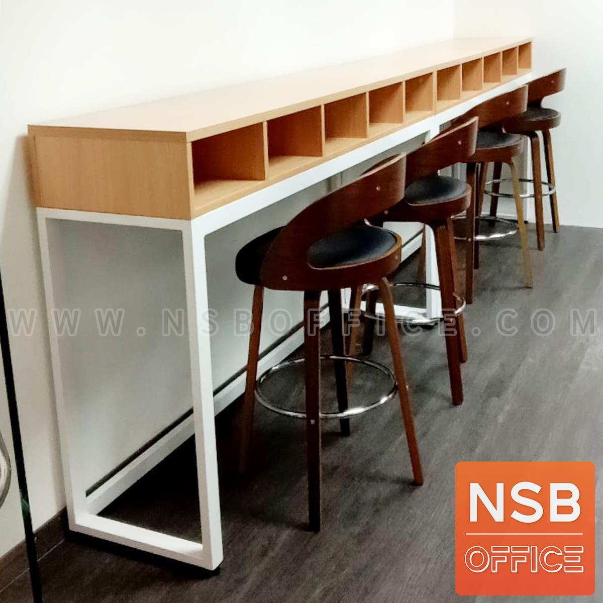 โต๊ะเคาน์เตอร์บาร์สูงหน้าตรง  รุ่น Bar-D ขนาด 120W,150W,180W cm.  ช่องวางของ