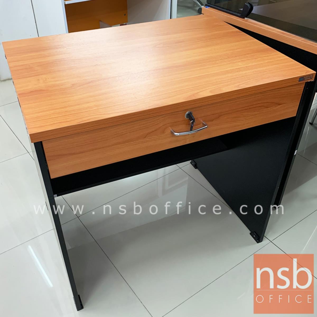 โต๊ะทำงาน 1 ลิ้นชัก รุ่น Margot (มาก็อต) ขนาด 80W ,100W cm.  เมลามีน