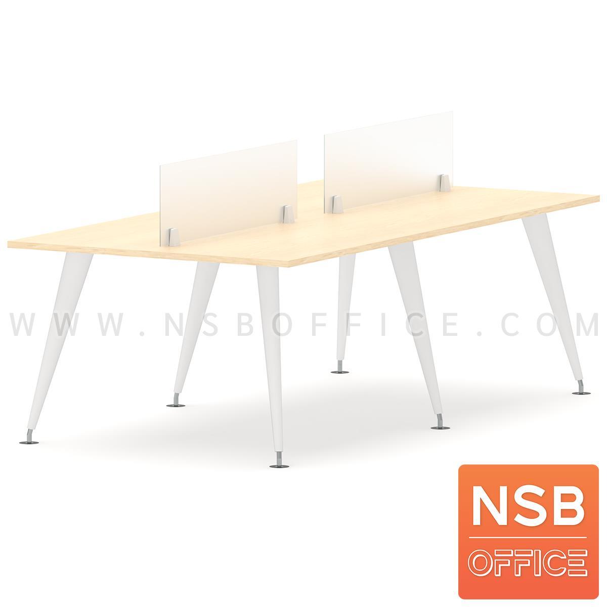 ชุดโต๊ะทำงานกลุ่ม 4 ที่นั่ง รุ่น Maroon ll (มารูน 2) ขนาด 240W*120D cm. พร้อมมินิสกรีนด้านหน้า