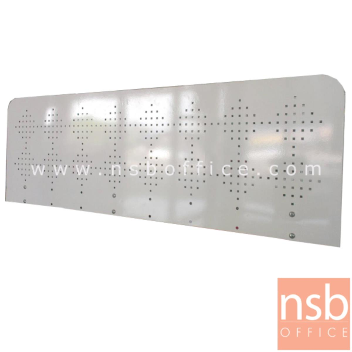 P04A012:มินิสกรีนกั้นบนโต๊ะเหล็กล้วน 40H cm.  รุ่น Steel (สตีล) ขนาด 100W, 120W, 135W และ 150W cm.