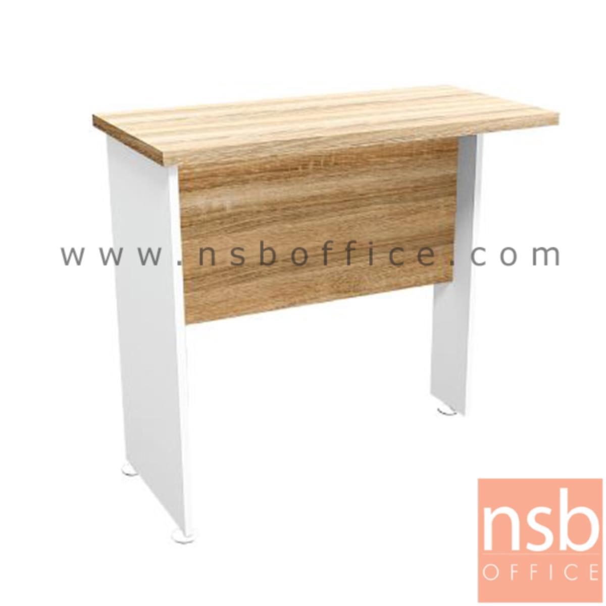 A21A020:โต๊ะเข้ามุม  รุ่น Wonders (วันเดอร์ส) ขนาด 80W cm. เมลามีน สีเนเจอร์ทีค-ขาว
