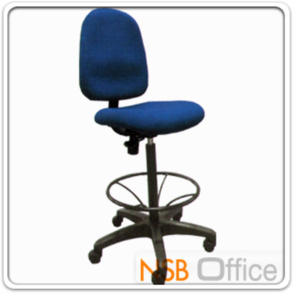 เก้าอี้บาร์ที่นั่งเหลี่ยมล้อเลื่อน รุ่น Scrow (สโครว์)  มีก้อนโยก ขาพลาสติกแบบตัน
