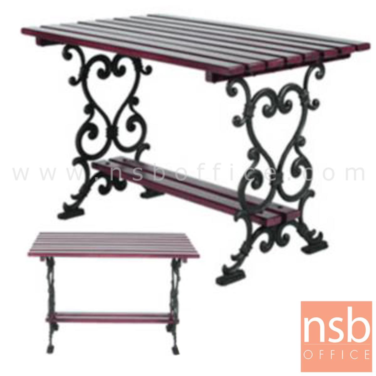 G08A041:โต๊ะสนามไม้เต็ง เหล็กหล่อ กทม. BKK-TOO10 (100, 120, 150, 200 cm)