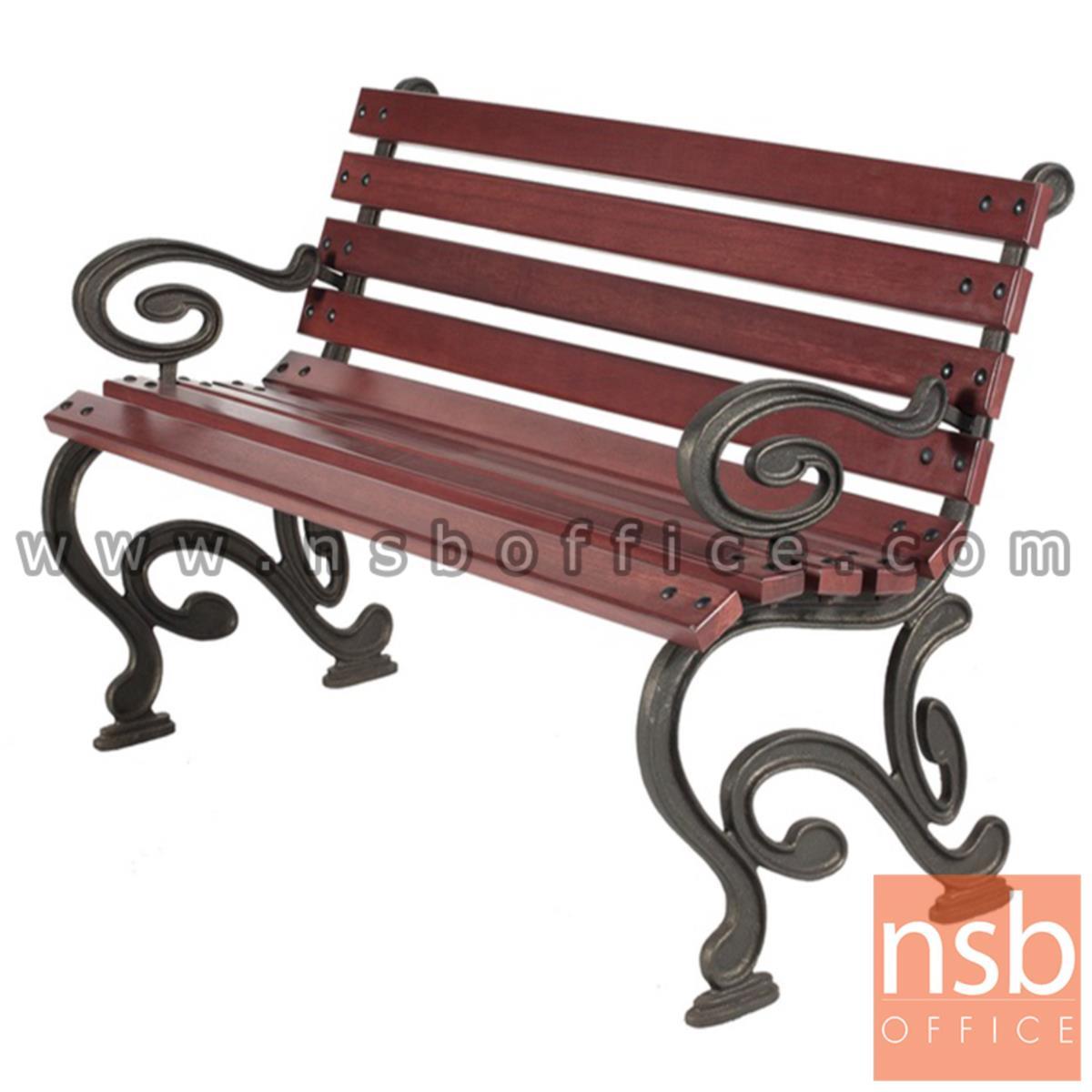 G08A009:เก้าอี้สนามไม้เต็ง เหล็กหล่อ กทม. BKK-CO43 (100, 120, 150, 200 cm)