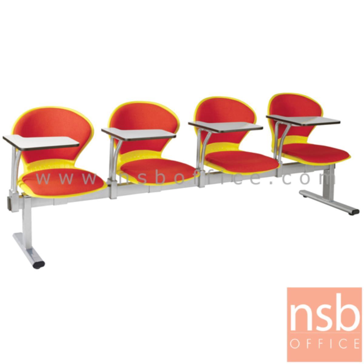 เก้าอี้เลคเชอร์แถวเฟรมโพลี่หุ้มเบาะ รุ่น D476 2 ,3 และ 4 ที่นั่ง ขาเหล็กพ่นสีเทา