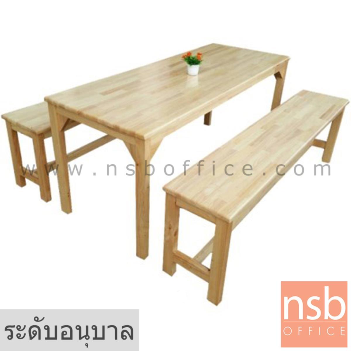 A17A072:ชุดโต๊ะและเก้าอี้กลุ่มไม้ยางพาราล้วน รุ่น NEWJERSEY (นิวเจอร์ซี)  ระดับอนุบาล