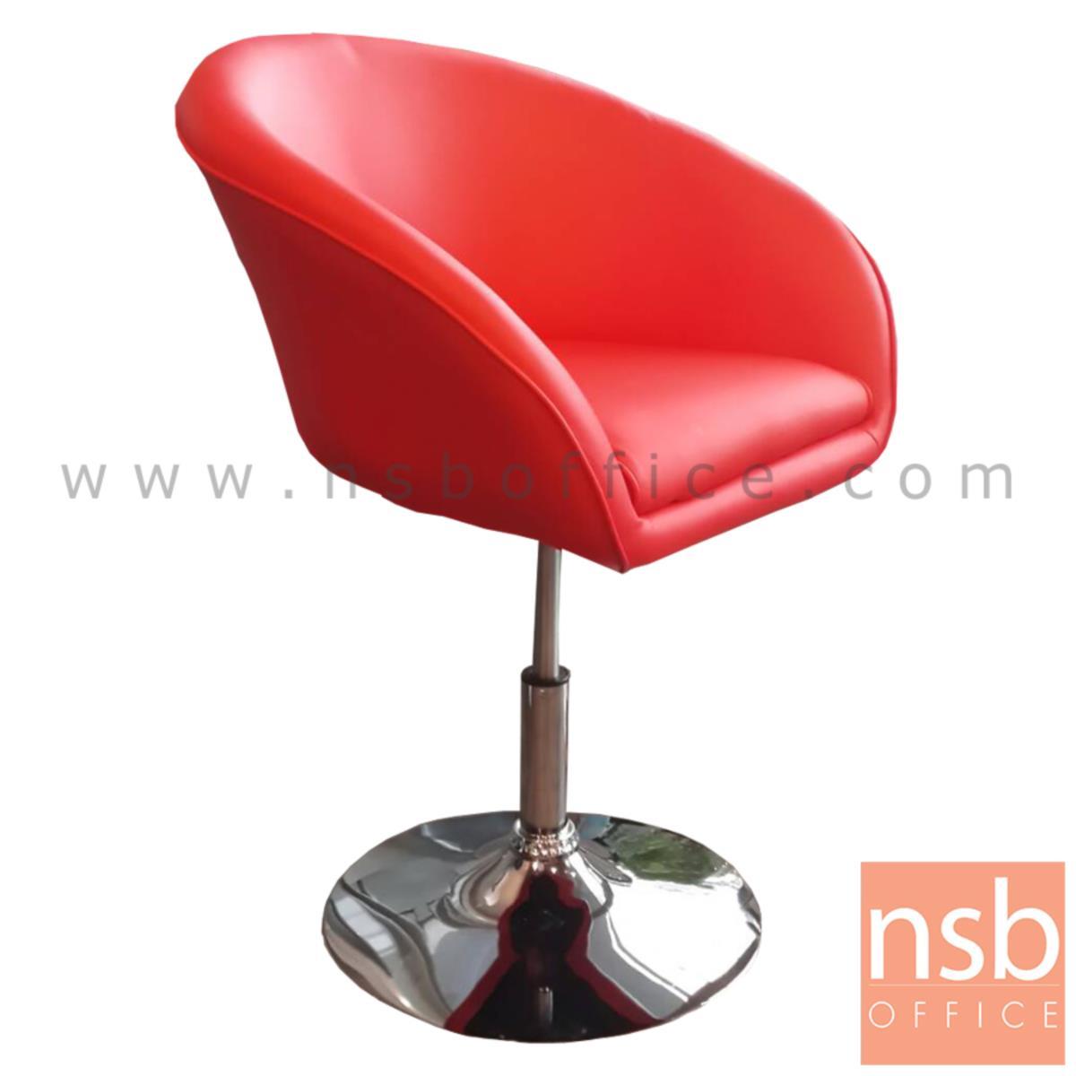 B34A001:เก้าอี้โมเดิร์นหนังเทียม รุ่น Kevin (กวิน)  ขาเหล็กชุบโครเมี่ยม