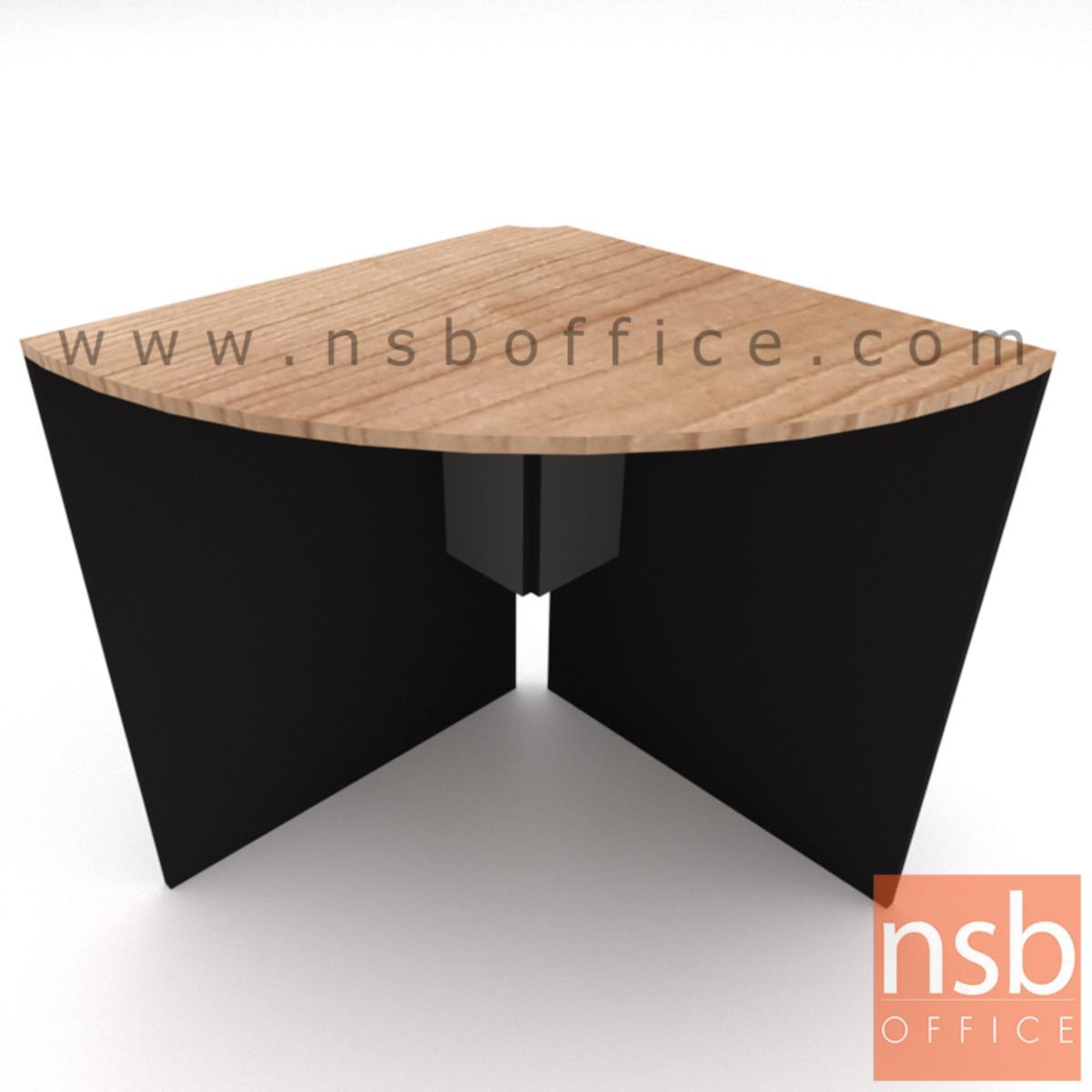 โต๊ะเข้ามุม รุ่น Geiger (ไกเกอร์) ขนาด 65R cm.  ต่อมุมโต๊ะประชุม เมลามีนล้วน