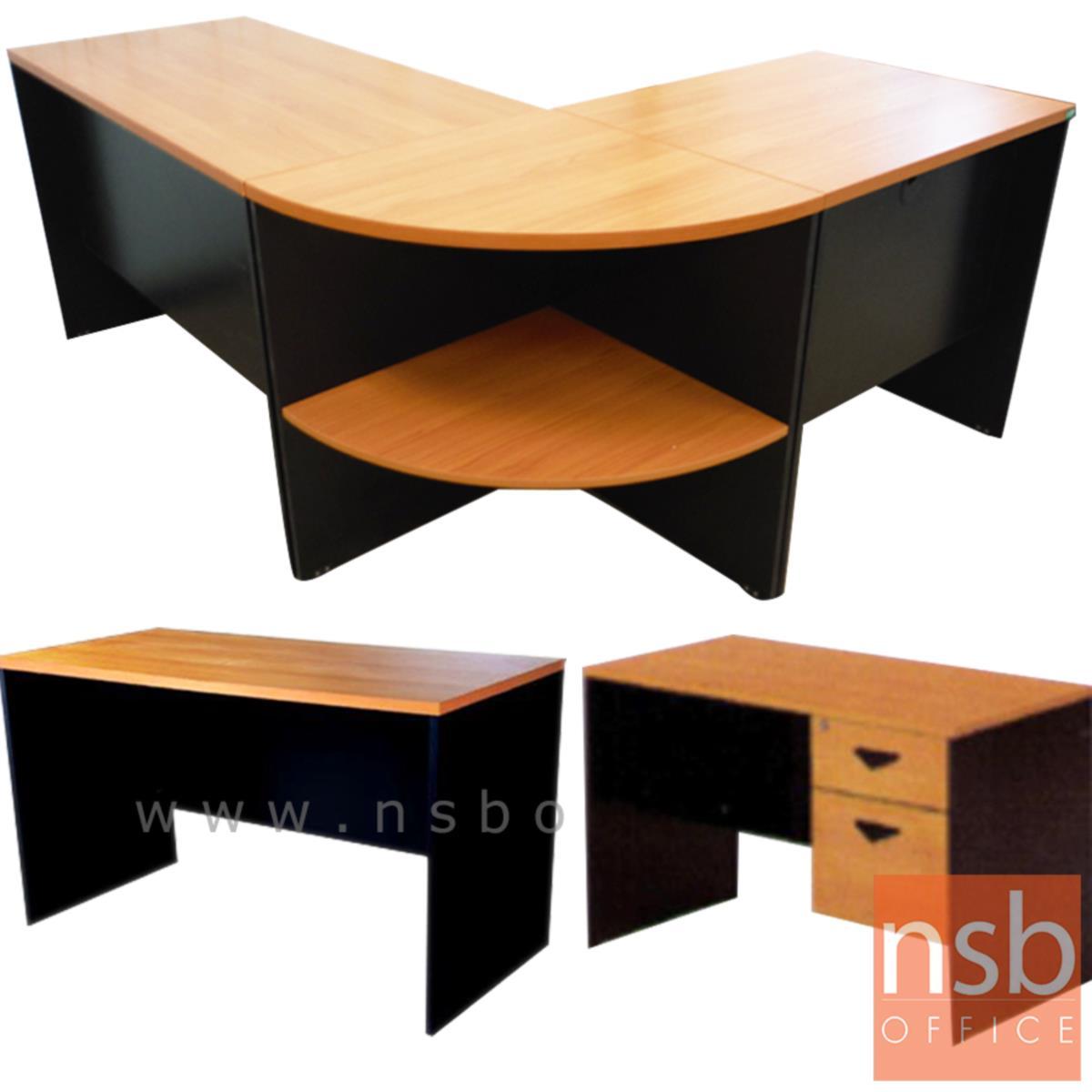 A16A018:โต๊ะทำงานตัวแอลชุด 3 ชิ้น รุ่น Timberlake (ทิมเบอร์เลก) ขนาด 180W1*140W2 cm. เมลามีน