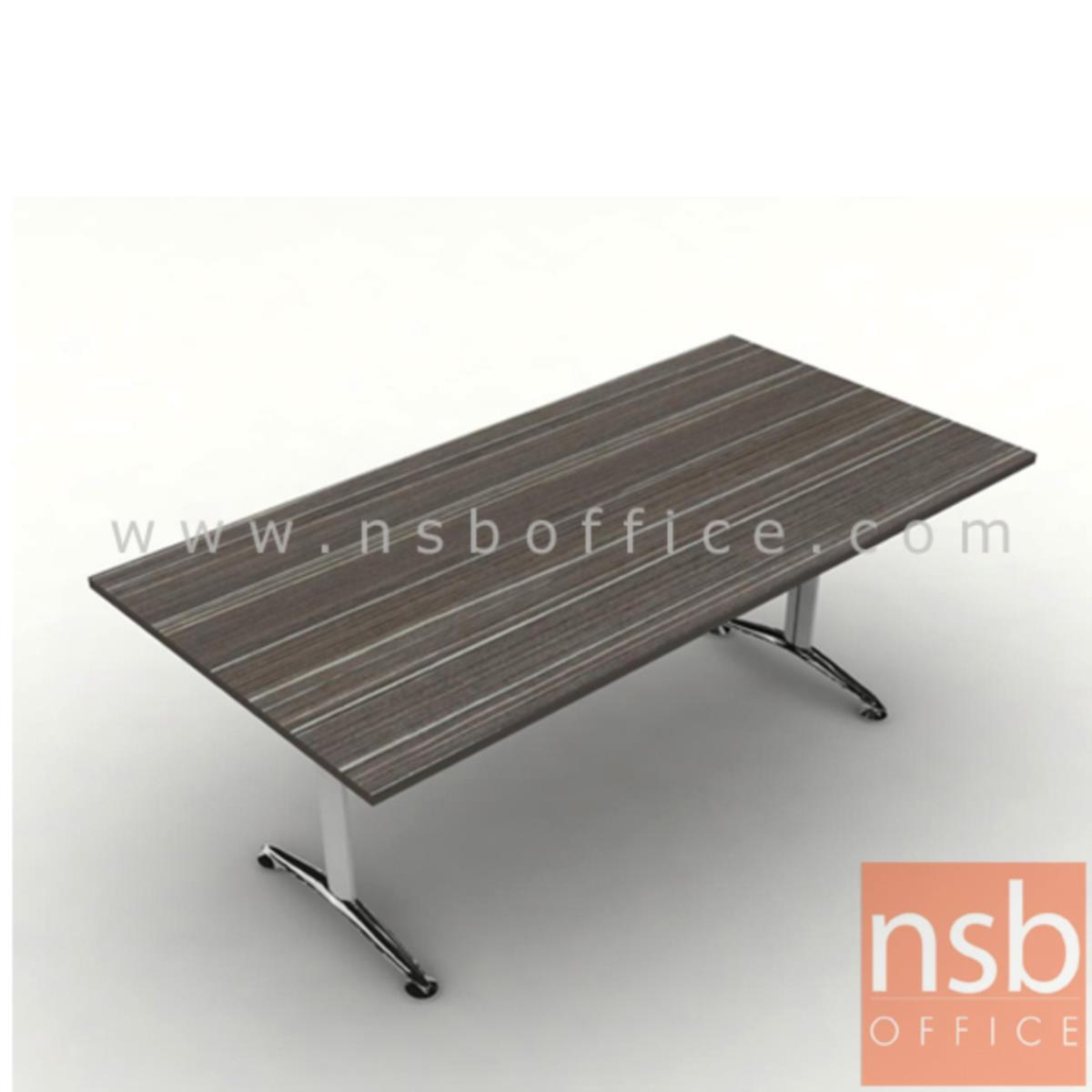 โต๊ะประชุมทรงสี่เหลี่ยม  รุ่น Quirinus 8 ,10 ที่นั่ง ขนาด 200W ,240W cm.  ขาเหล็กตัวที