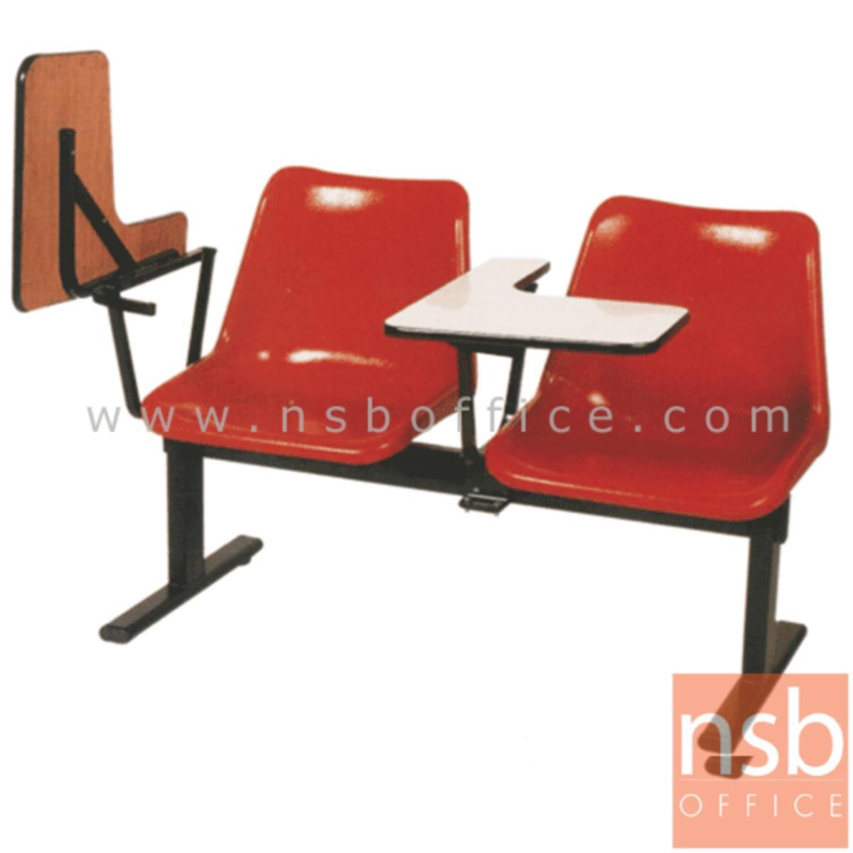 เก้าอี้เลคเชอร์แถวเฟรมโพลี่ล้วน รุ่น D270 2 ,3 และ 4 ที่นั่ง ขาเหล็กเหลี่ยมพ่นดำ