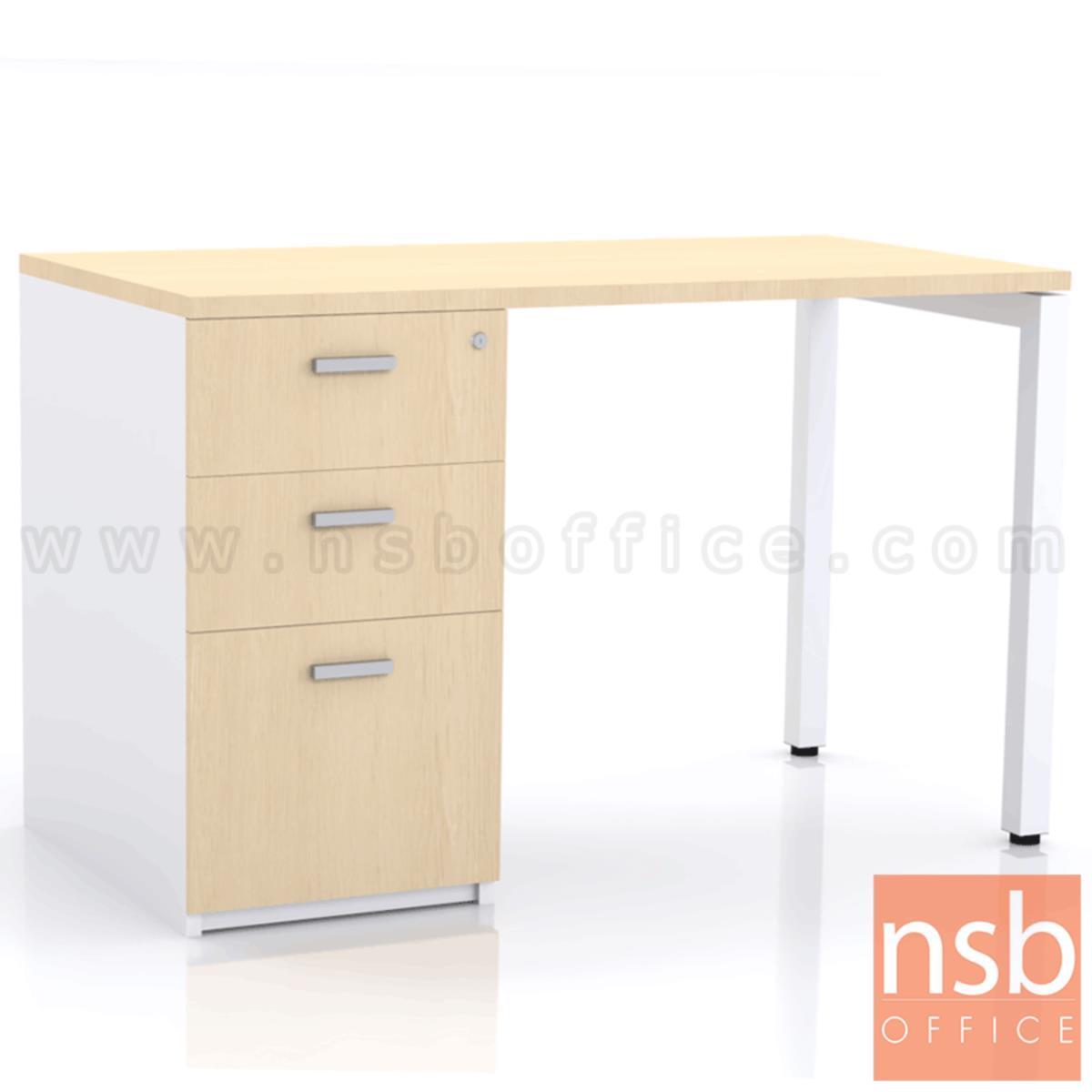 A06A007:โต๊ะทำงาน 3 ลิ้นชัก  ขนาด 120W ,135W ,150W ,180W cm.  ขาเหล็ก