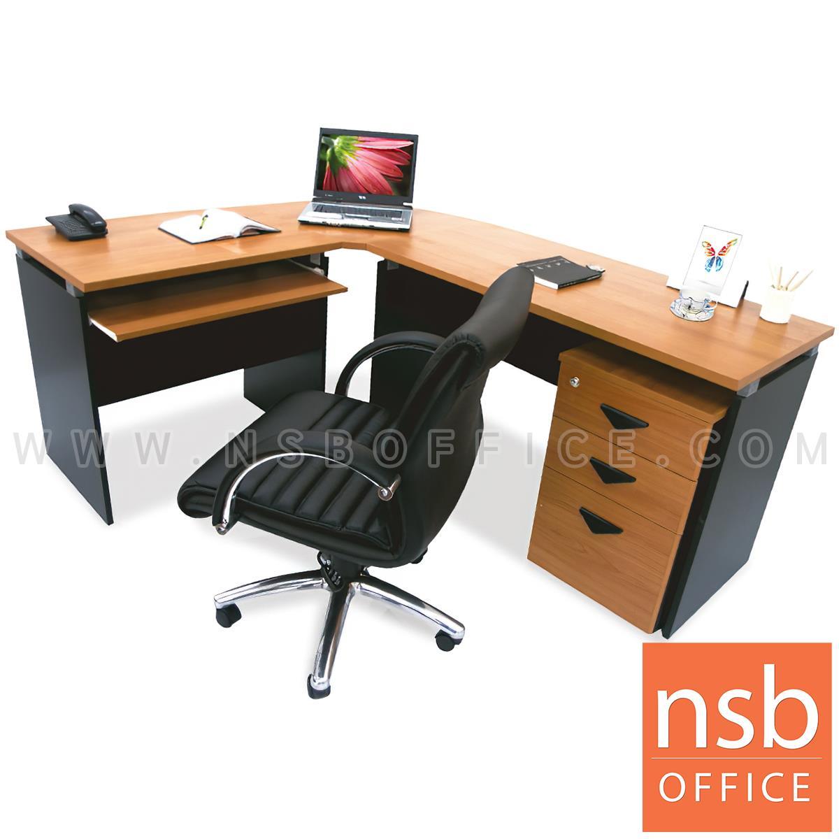 โต๊ะผู้บริหารตัวแอล  รุ่น NOCI  ขนาด 180W1*140W2 cm. เมลามีน