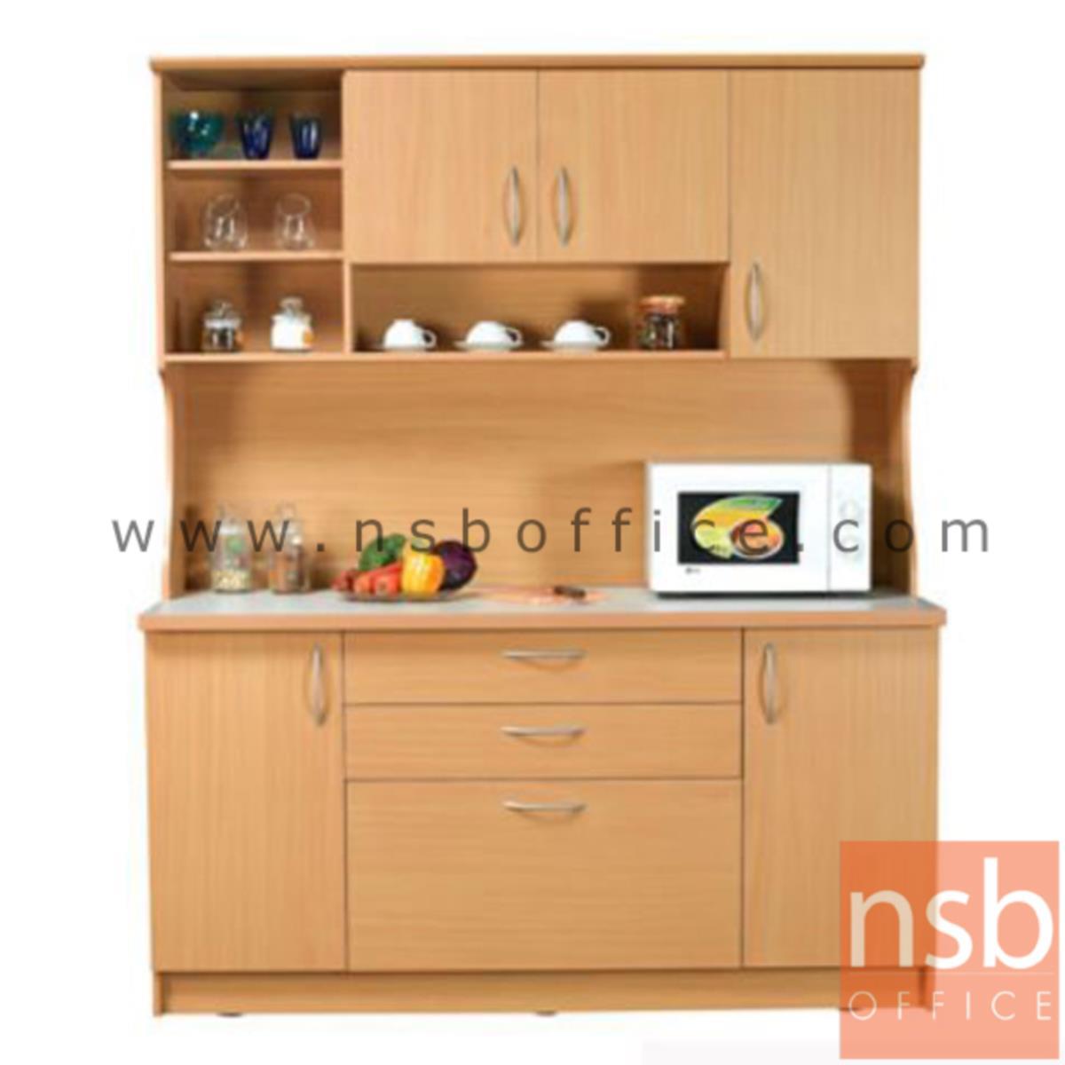 G10A013:ชุดตู้ครัวหน้าเรียบ 160 cm รุ่น ER-0116  หร้อมตู้ลอย