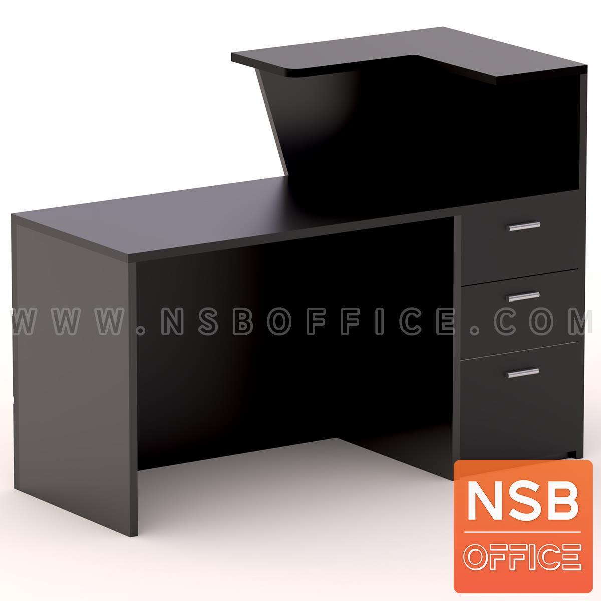 เคาน์เตอร์ผสมโต๊ะคอมพิวเตอร์หน้าเฉียง รุ่น Blackswan (แบล็คสวอน) ขนาด 120W, 150W, 180W cm. พร้อม 3 ลิ้นชักข้าง