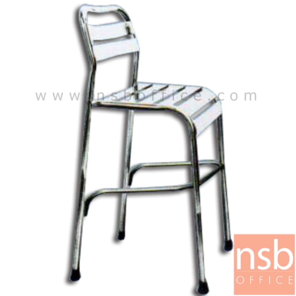 G12A177: เก้าอี้บาร์สเตนเลสสูง 105 ซม. รุ่น KJC-031H ไม่มีท้าวแขน