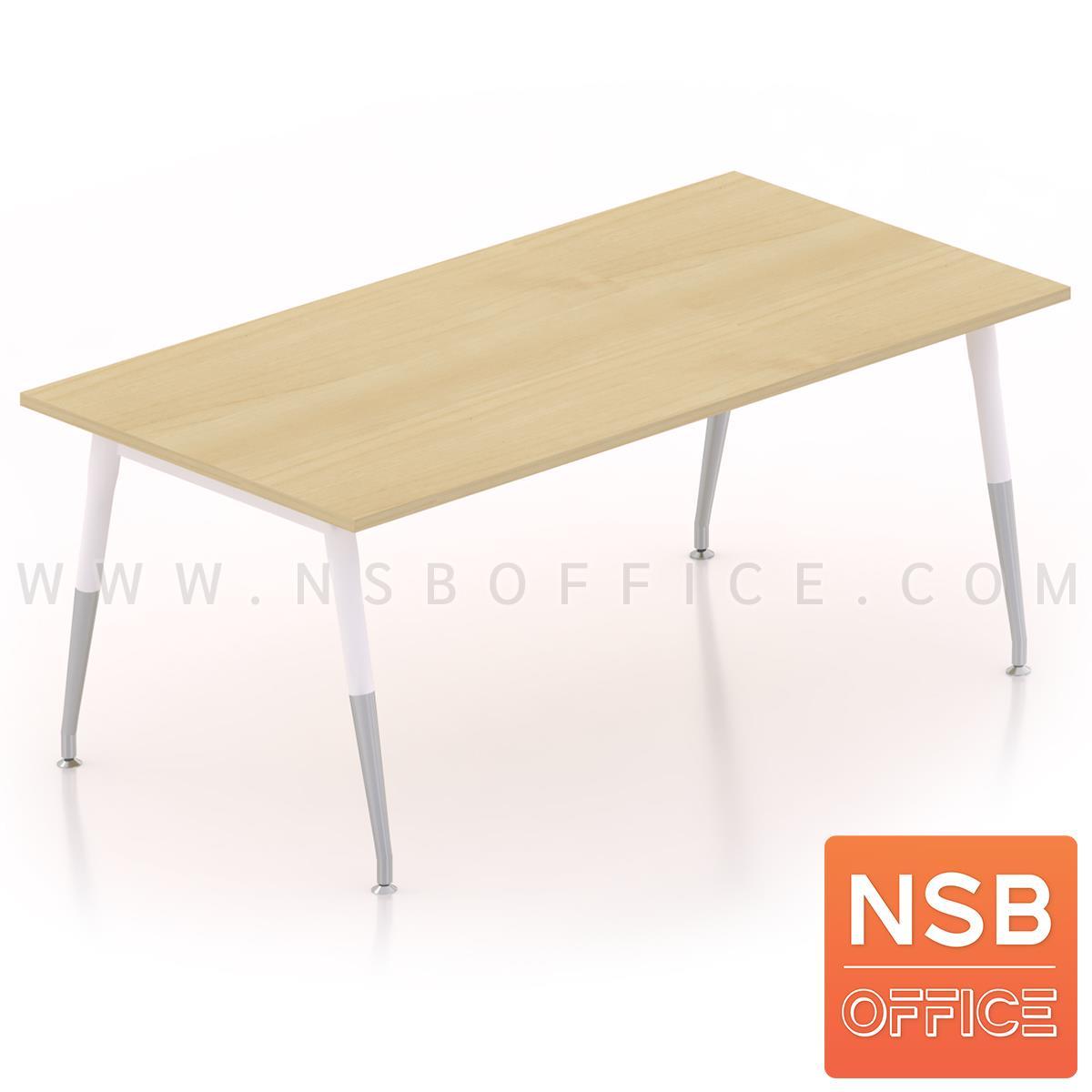 A05A076:โต๊ะประชุมทรงสี่เหลี่ยม  ขนาด 150W ,180W ,200W ,240W cm.  ขาเหล็กปลายเรียว