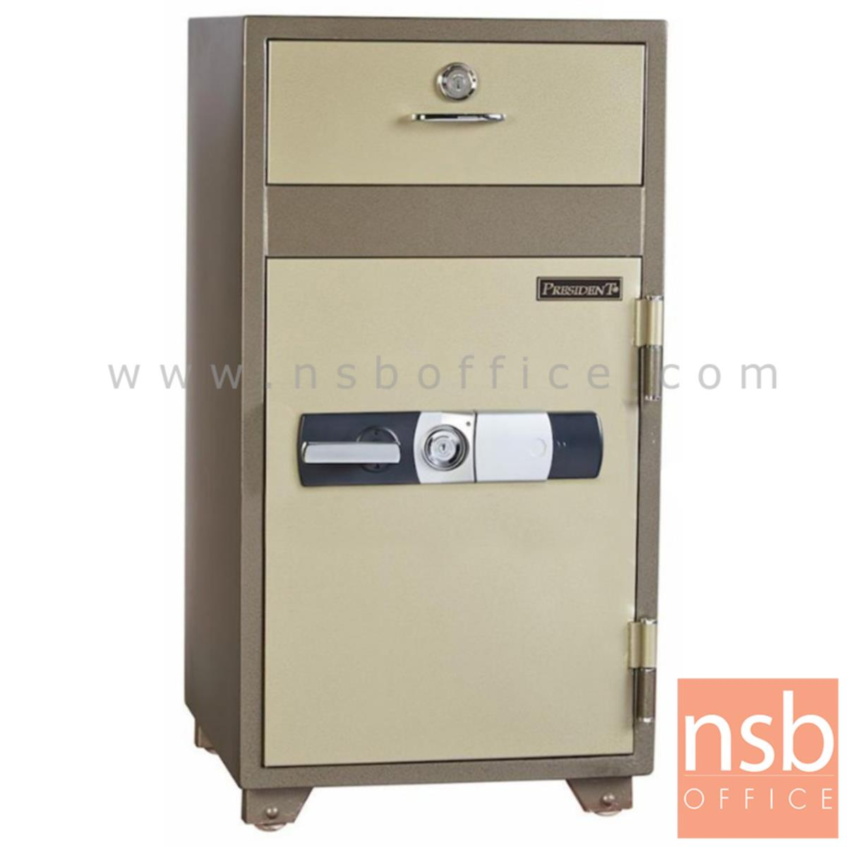 F05A074:ตู้เซฟนิรภัยชนิดดิจิตอล รุ่น PRESIDENT-ND-100D  มี 2 กุญแจ 1 รหัส (รหัสใช้กดหน้าตู้)