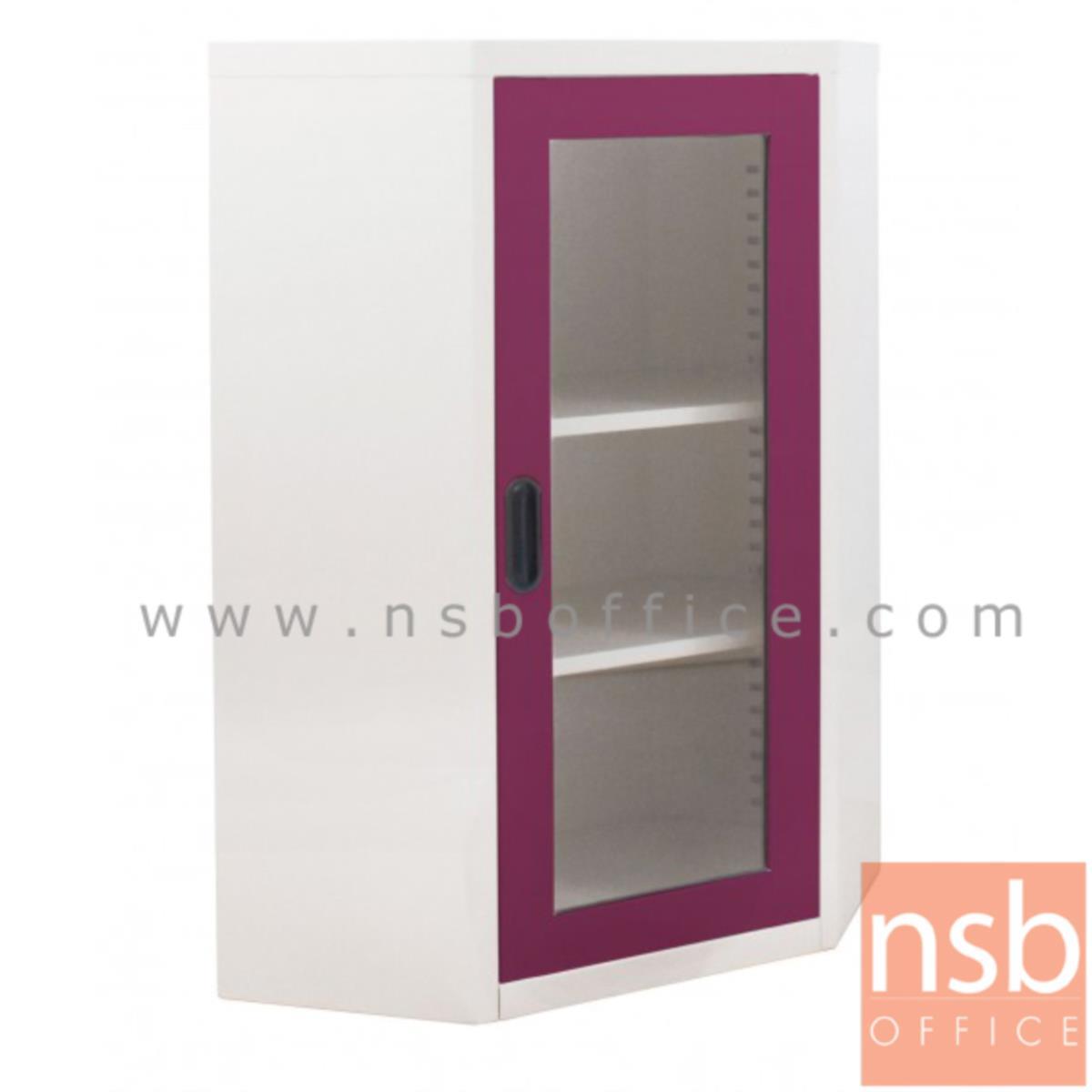 E21A030:ตู้อเนกประสงค์เตี้ยเข้ามุม สูง 105 ซม. บานกระจก รุ่น MAX-072