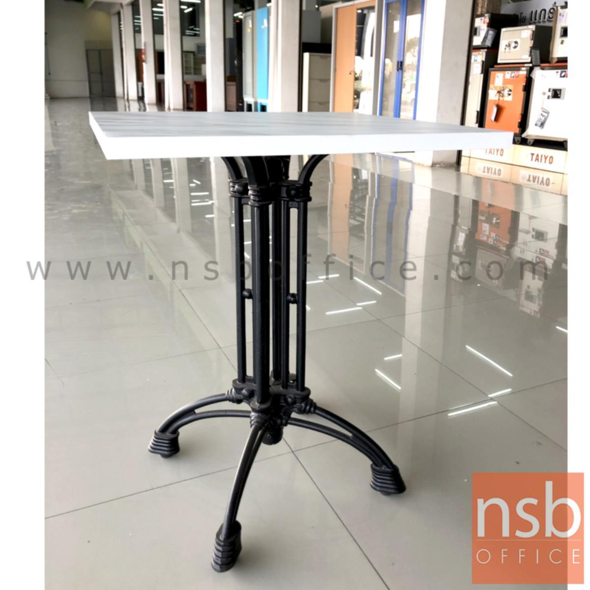 โต๊ะขาเหล็กหล่อหน้าเมลามีน รุ่น Christian (ครีซ-แช็น) ขาเหล็กแฉกสีดำ
