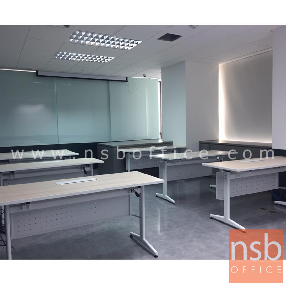 โต๊ะทำงาน  รุ่น NAOMI (นาโอมิ) พร้อมบังโป๊เหล็ก