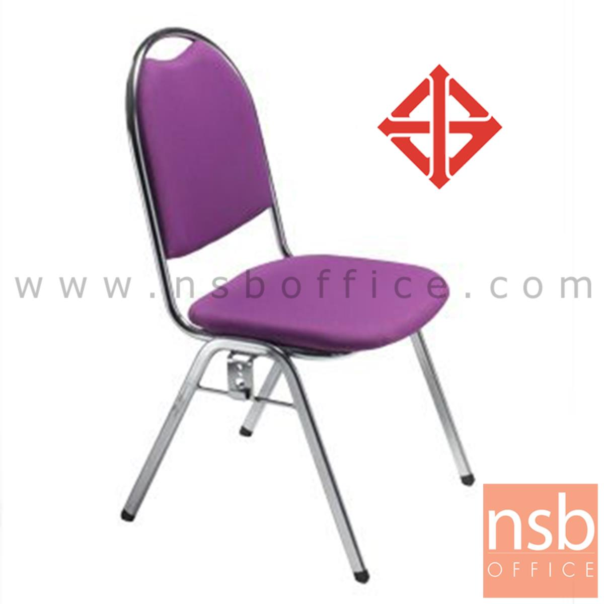B08A080:เก้าอี้อเนกประสงค์จัดเลี้ยง  รุ่น LKC-128  ขาเหล็กชุบโครเมี่ยม