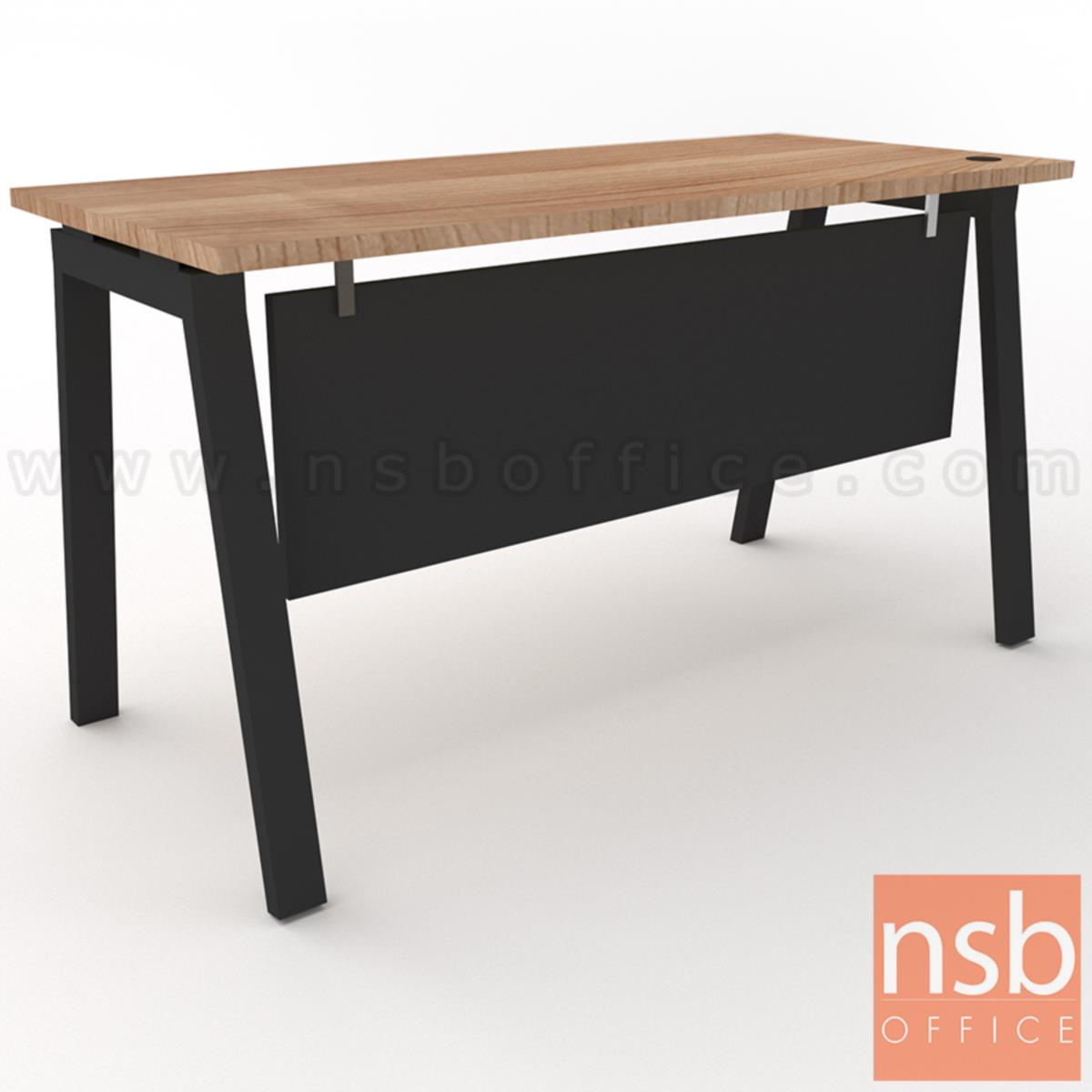 A10A101:โต๊ะทำงานทรงสี่เหลี่ยม Slash-1 (สแลช-1) ขนาด 120W, 135W, 150W cm. ขาเหล็ก