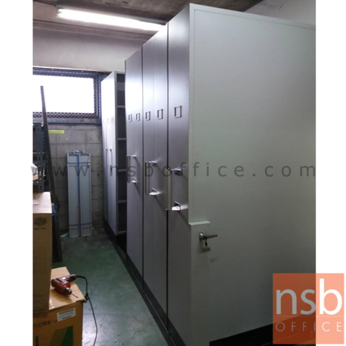 ตู้รางเลื่อนแบบมือผลัก 121.7D cm  ขนาด 4, 6, 8, 10, 12, 14, 16 ตู้ (มอก.1496-2541)