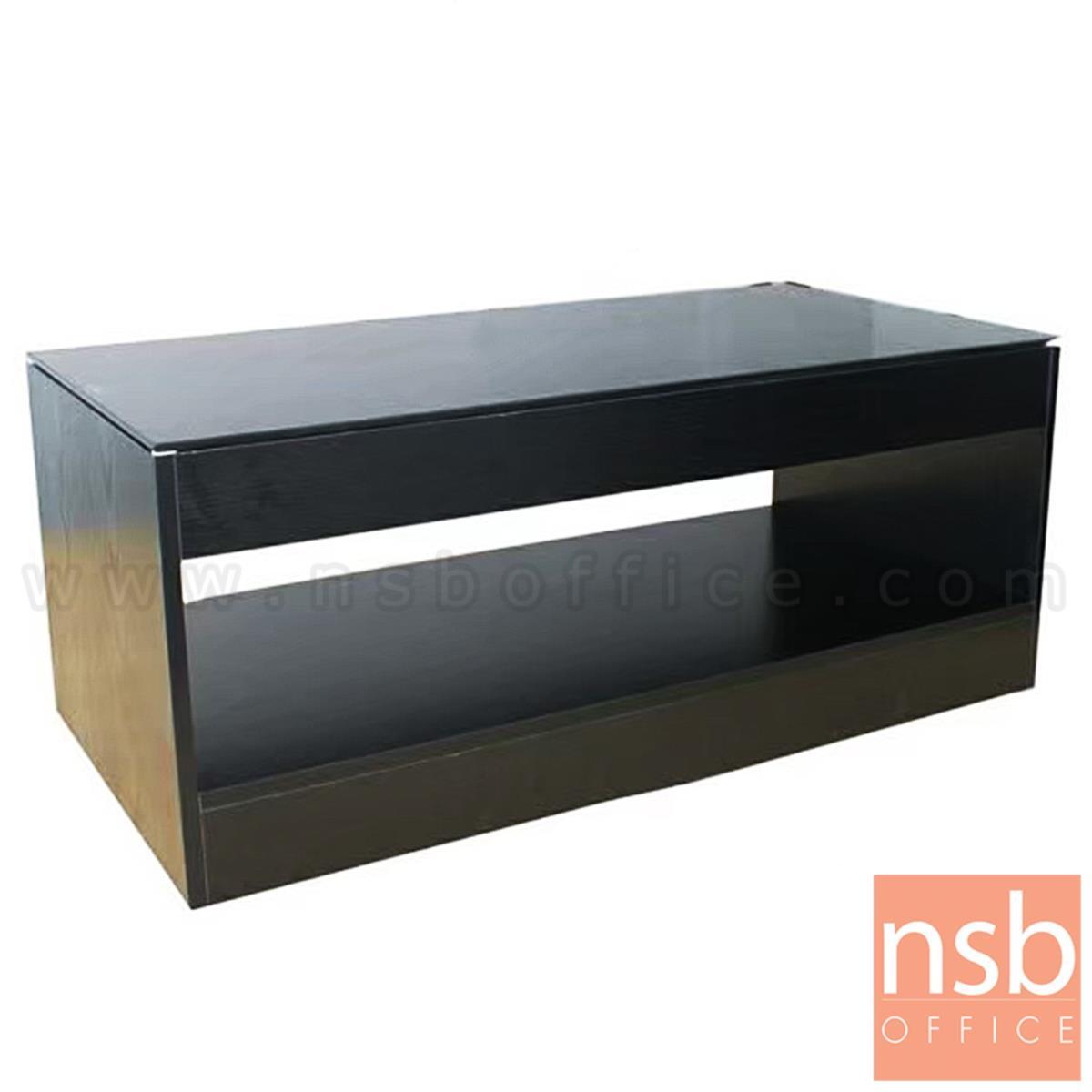 B13A290:โต๊ะกลางหน้าท็อปกระจก รุ่น ขนาด 100W cm. โครงไม้ลามิเนต