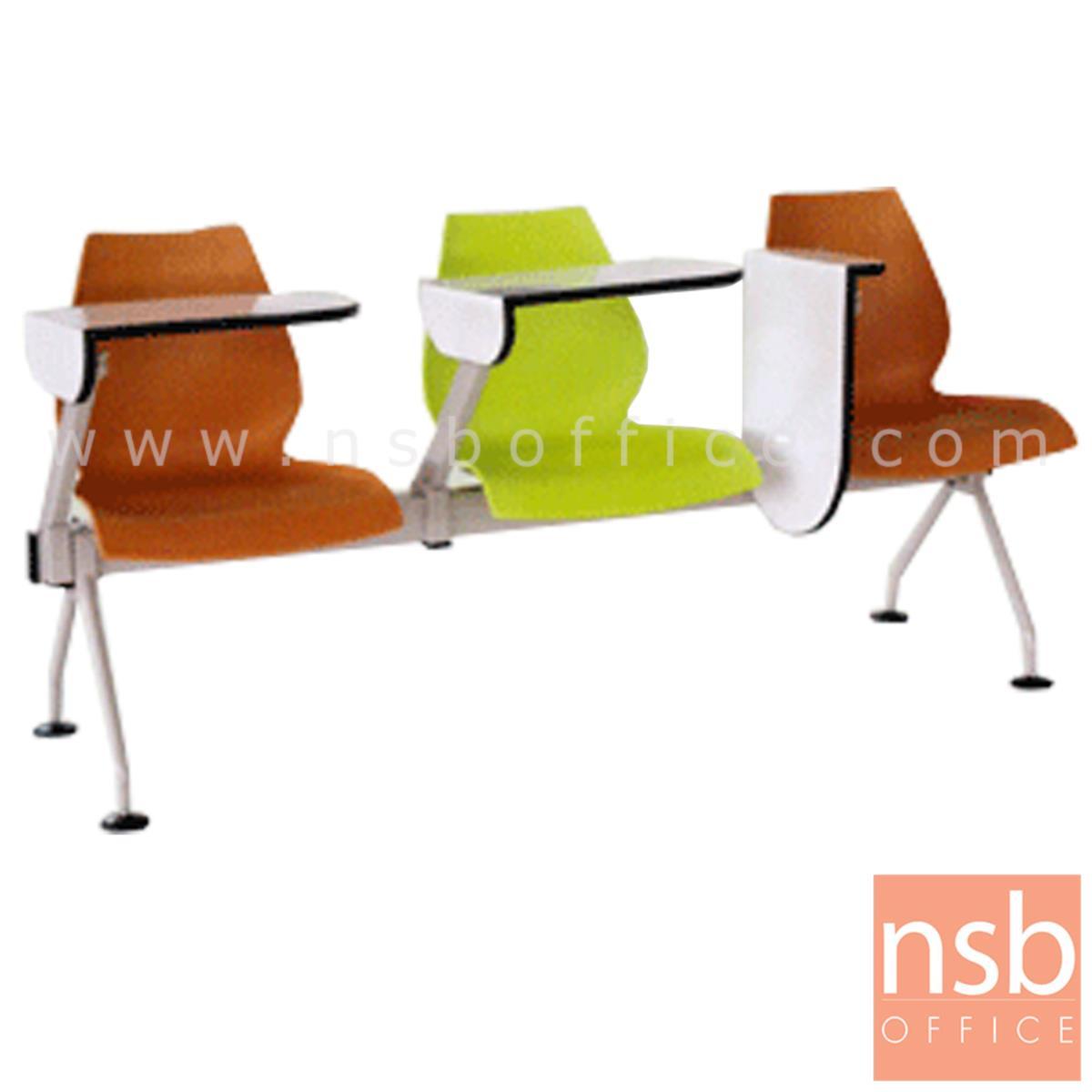 B17A032:เก้าอี้เลคเชอร์แถวเฟรมโพลี่ รุ่น B808 2 ,3 และ 4 ที่นั่ง ขาเหล็กพ่นสีเทา