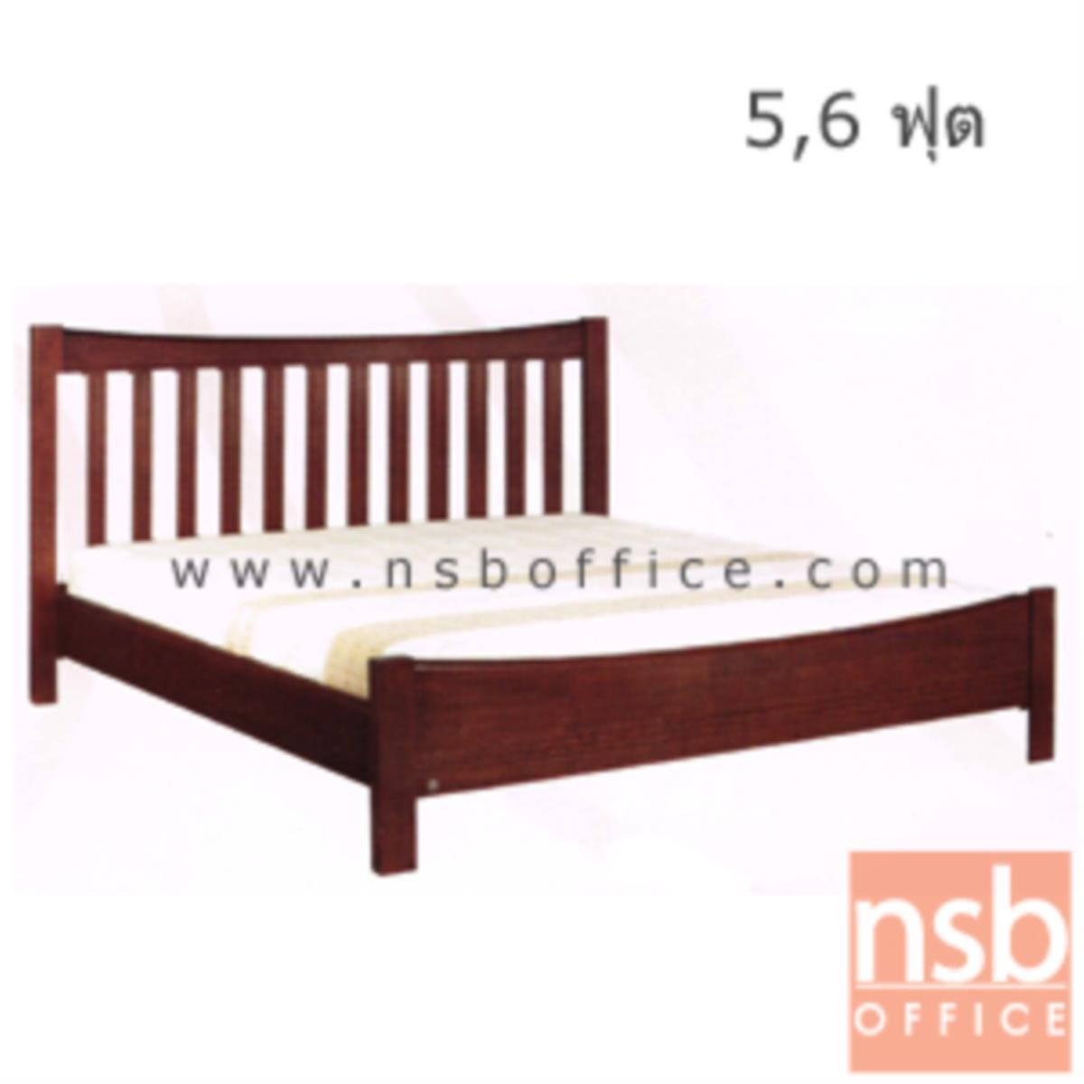 G11A092:เตียงไม้ยางพาราล้วน รุ่น RICHCY-FU  5 และ 6 ฟุต หัวเตียงไม้ระแนง