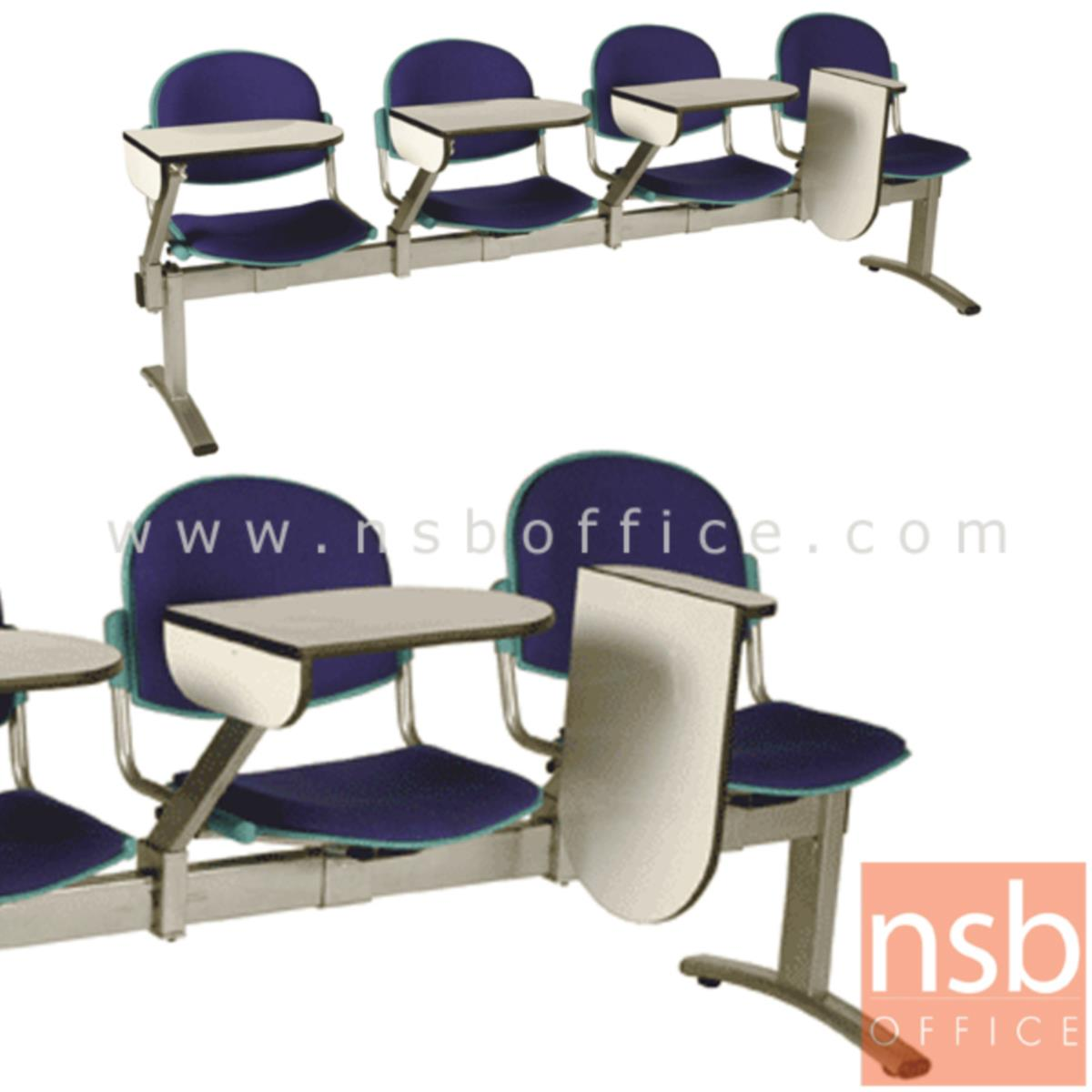 B17A022:เก้าอี้เลคเชอร์แถวเฟรมโพลี่หุ้มเบาะ รุ่น D756 2 ,3 และ 4 ที่นั่ง ขาเหล็กพ่นสีเทา