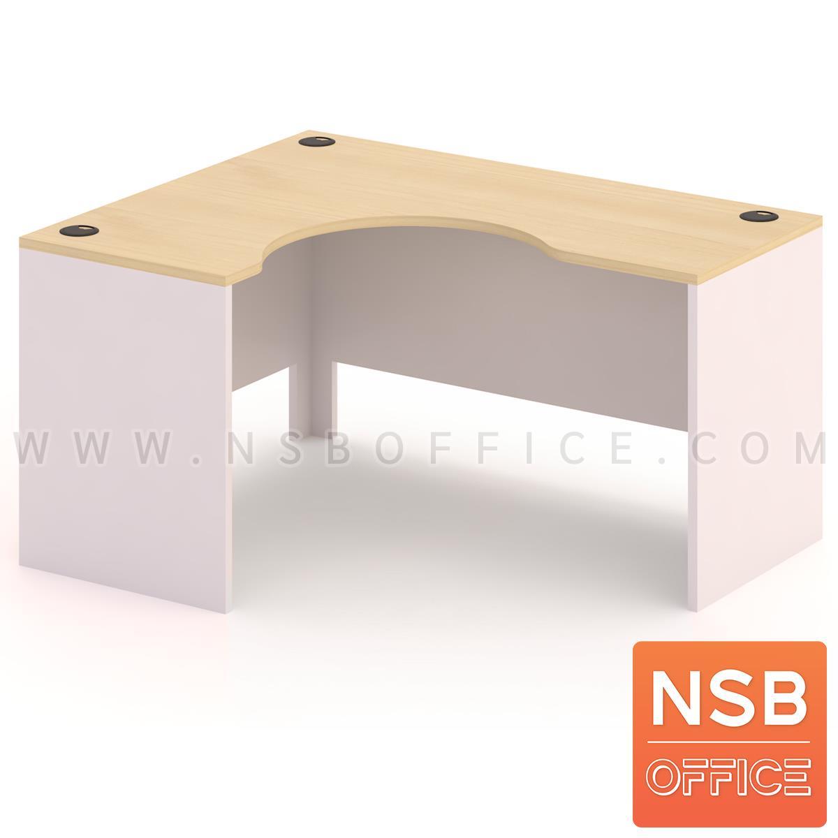 A13A017:โต๊ะทำงานตัวแอลหน้าโค้งเว้า   รุ่น Simpson (ซิมป์สัน) ขนาด 150W1 ,165W1 ,180W1*120W2 cm.  เมลามีน