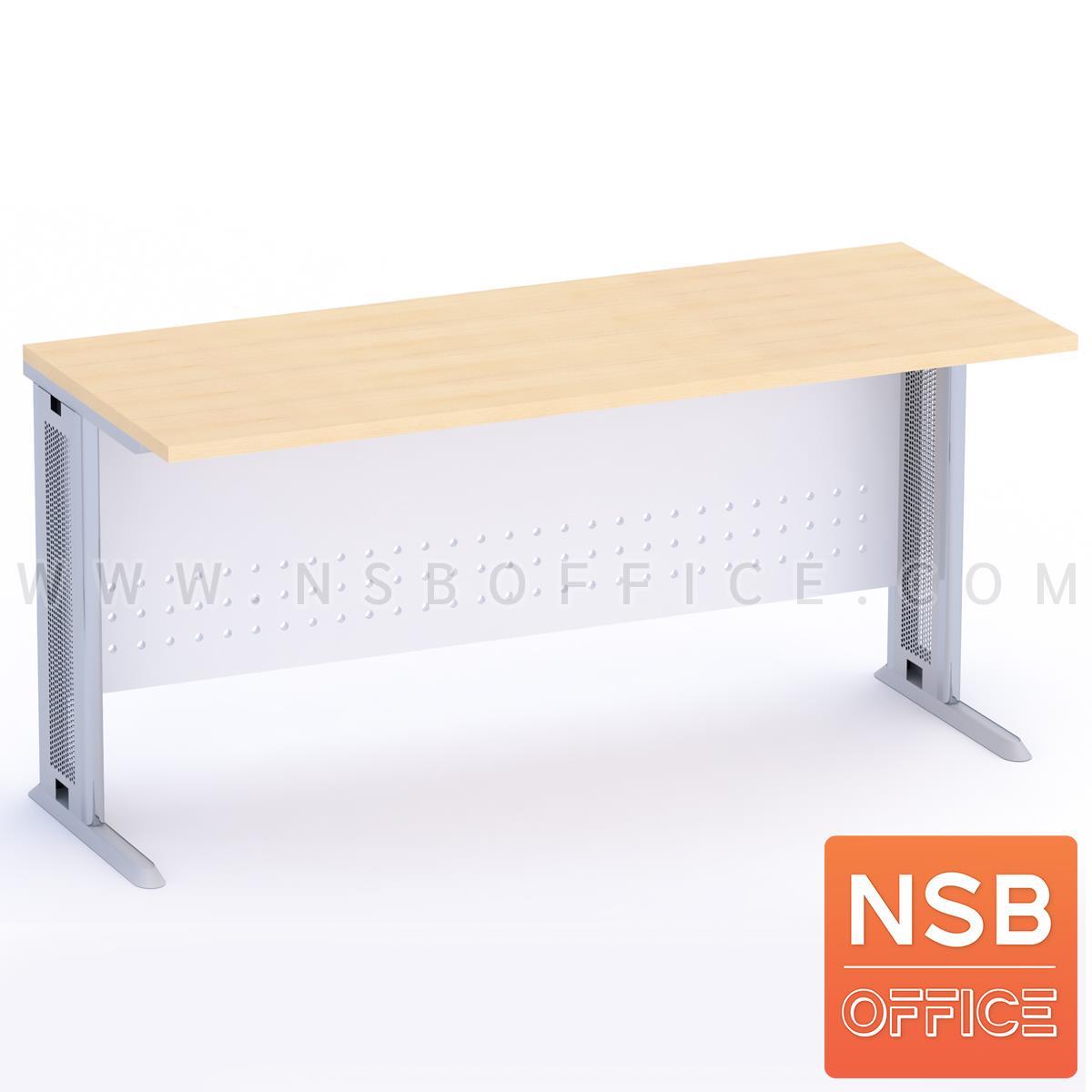 A10A094:โต๊ะทำงาน หน้าตรง รุ่น Bryson (ไบรสัน)  บังตาเหล็ก ขาเหล็ก
