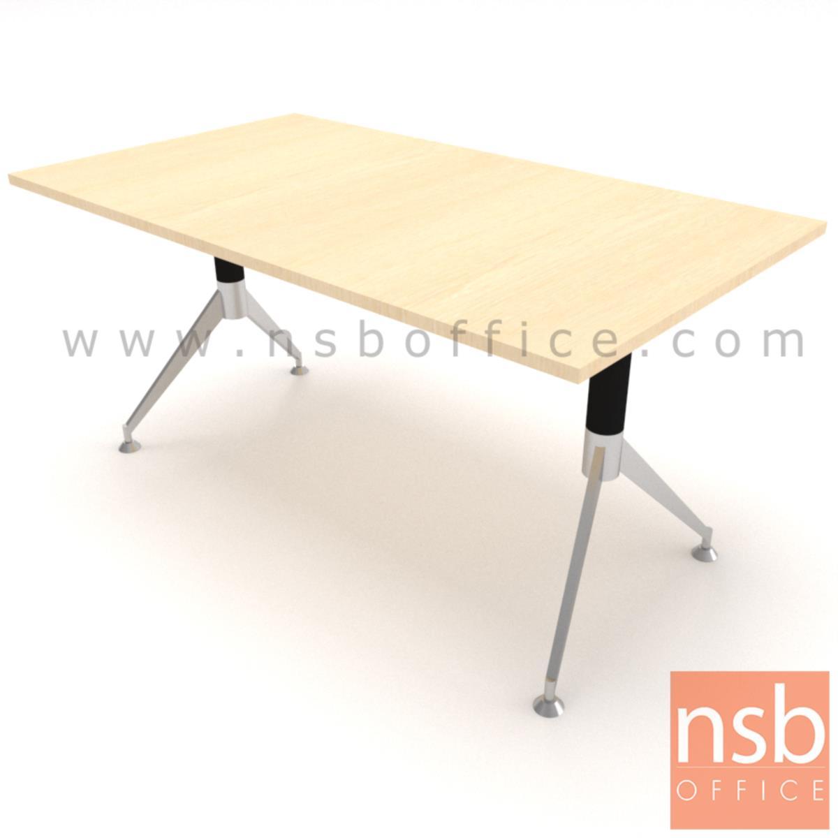 โต๊ะประชุมทรงสี่เหลี่ยม   ขนาด 180W cm. ขาเหล็กทรงหางปลา