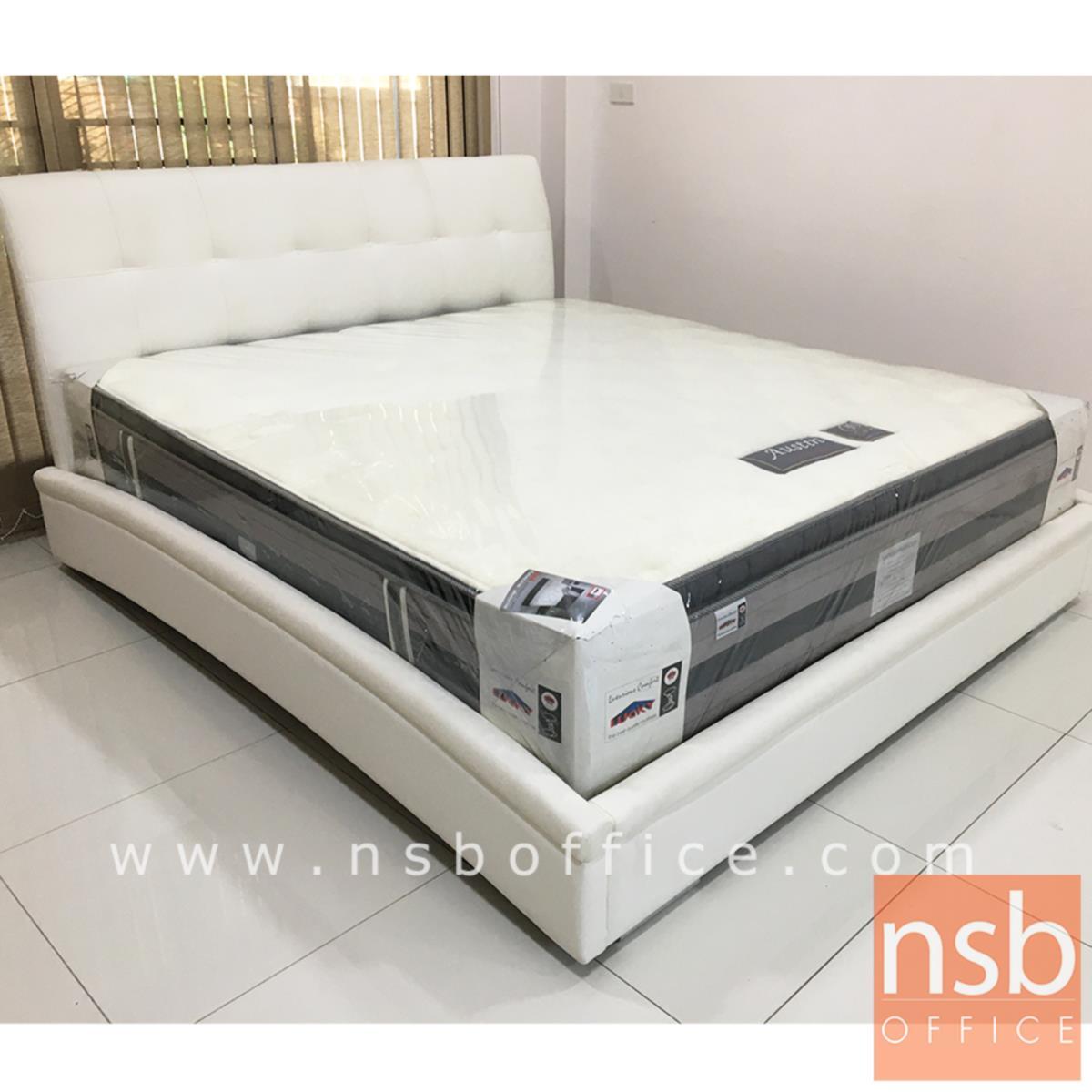 เตียงนอนหัวเตียงหุ้มเบาะPU 6 ฟุต รุ่น มาแชล(สต็อก 3 ตัว)