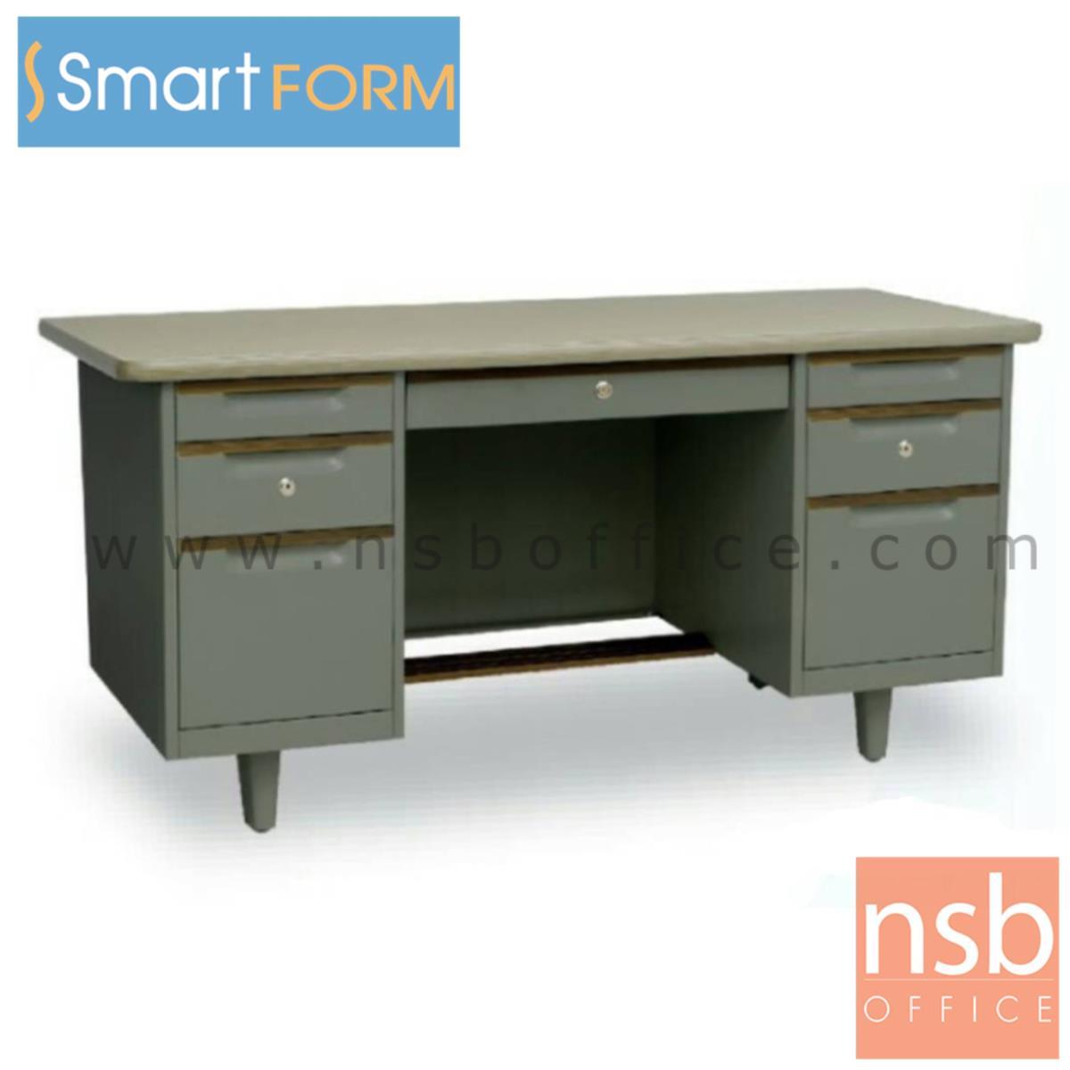 E02A052:โต๊ะทำงานเหล็ก 7 ลิ้นชัก รุ่น OD-50  ขนาด 5 ฟุต