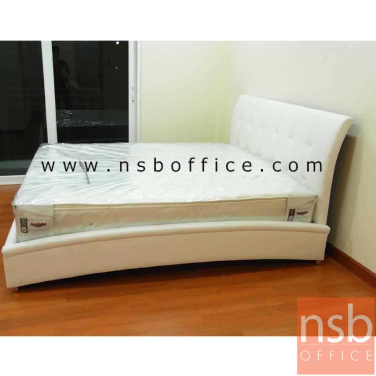 G11A101:เตียงนอนหัวเตียงหุ้มเบาะPU 6 ฟุต รุ่น มาแชล(สต็อก 3 ตัว)