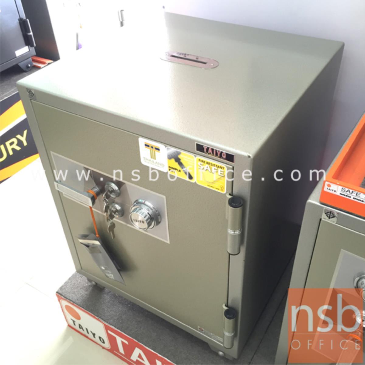 ตู้เซฟบริจาค TAIYO TS760K2C-05 มอก. 150 กก. 2 กุญแจ 1 รหัส (เจาะช่องรับบริจาค 10 cm ด้านบน)