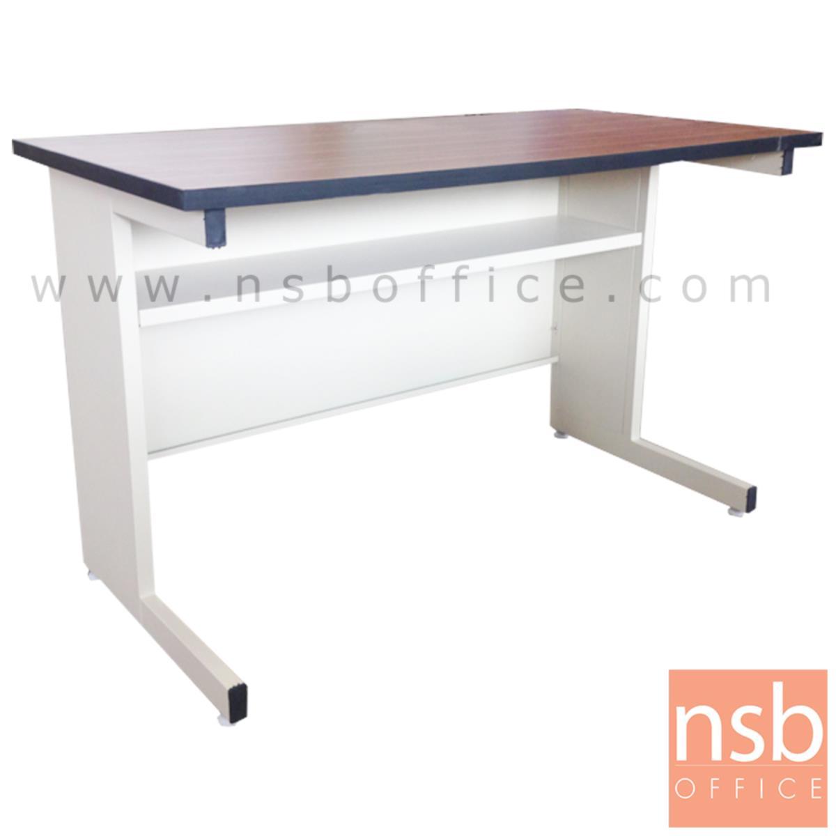 A05A038:โต๊ะประชุมตรง รุ่น Amolika (อโมลิก้า) ขนาด 119.7W ,152.5W ,182.5W cm.  ขาเหล็กตัวแอล