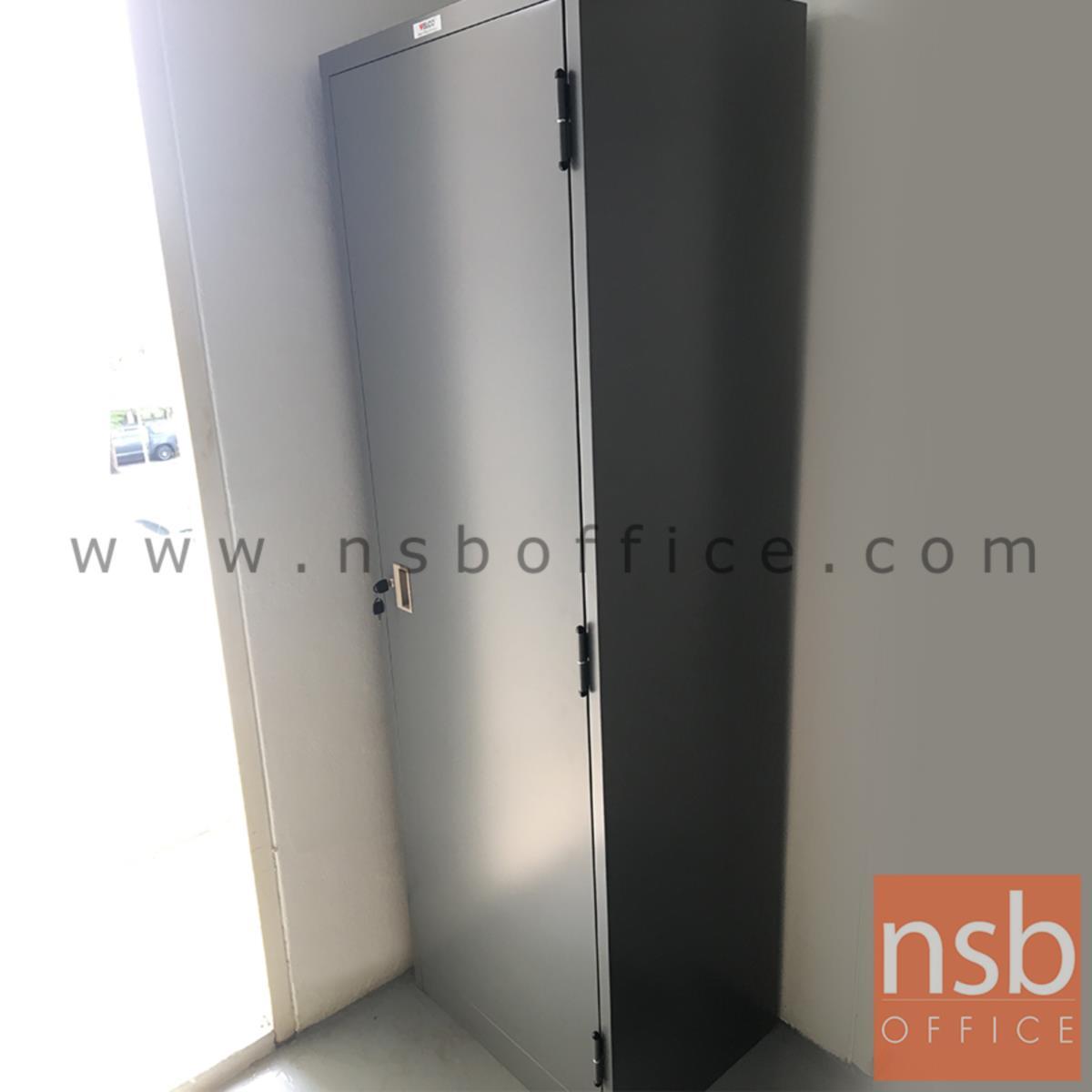 ตู้เหล็กแม่บ้าน 1 บานเปิด  รุ่น WCAB02 ขนาด 60W*183H cm. ยี่ห้อเวลโก WELCO
