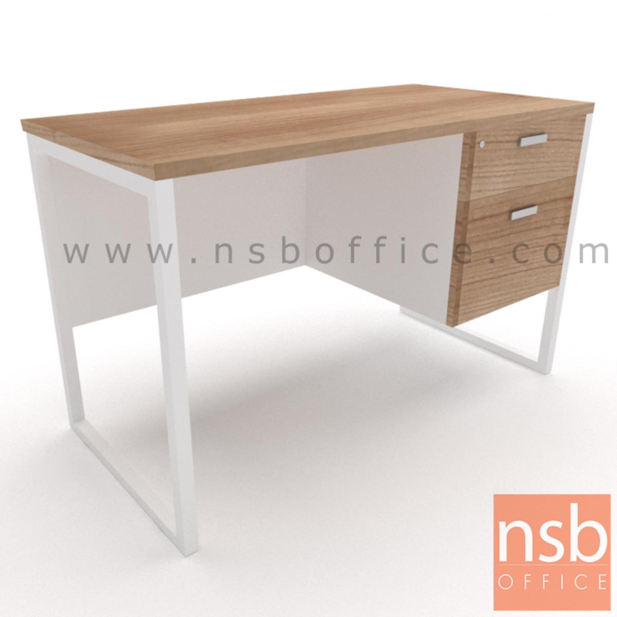 A18A038:โต๊ะทำงาน 2 ลิ้นชัก รุ่น Mondaine (มอนเดน) ขนาด 120W ,135W ,150W ,160W ,180W cm.  ขาเหล็กกล่องพ่นสี