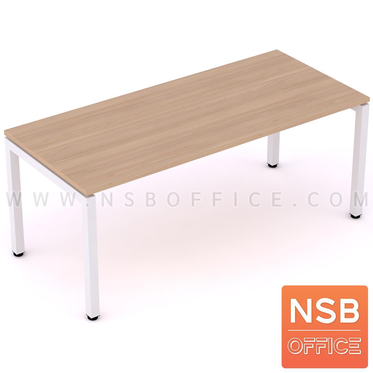 โต๊ะทำงานโล่ง  ขนาด 120W ,135W ,150W ,180W (60D,80D) cm.  ขาเหล็กเหลี่ยม