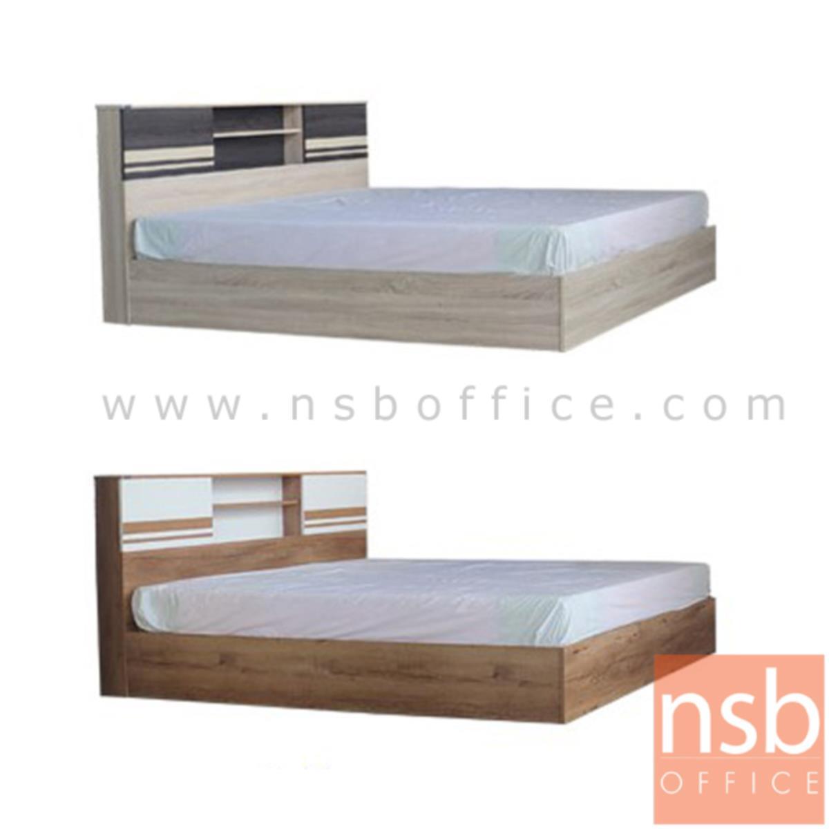 G12A257:เตียงนอนไม้ รุ่น Birdie (เบอร์ดี้) ขนาด 5,6 ฟุต สีสักขาว และสีโซลิค