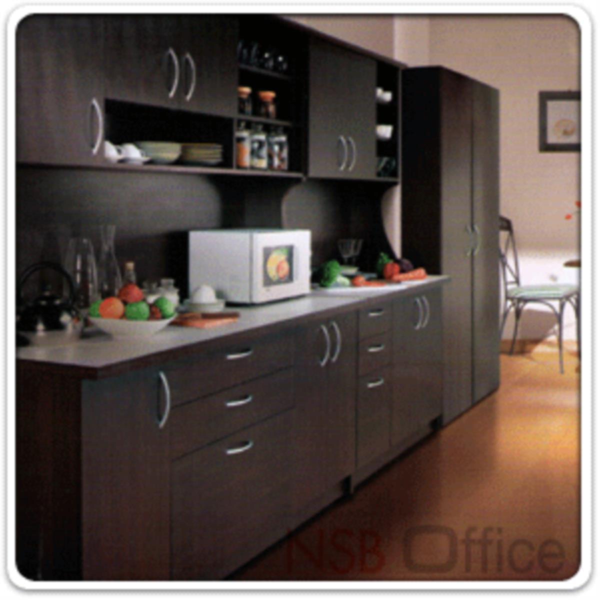ชุดตู้ครัวหน้าเรียบ 180 cm. ER-0118  พร้อมตู้ลอย