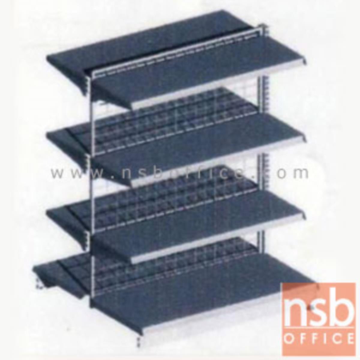 ชั้นเหล็กซุปเปอร์มาร์เก็ต สูง 120 cm. หนา 0.5 mm. 2 หน้า 4+4 แผ่นชั้น  รุ่น CK-F1 แบบตัวตั้งและตัวต่อ