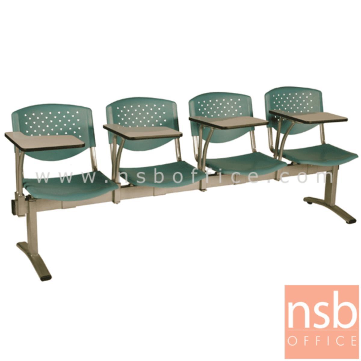 เก้าอี้เลคเชอร์แถวเฟรมโพลี่ รุ่น D146 2 ,3 และ 4 ที่นั่ง ขาเหล็กพ่นสีเทา