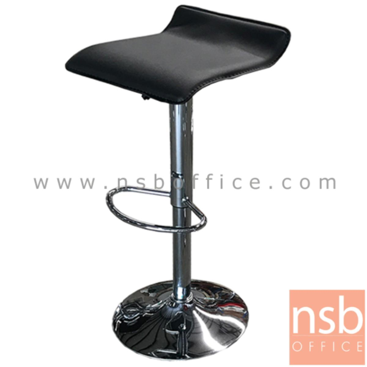 B18A030:เก้าอี้บาร์สูงหนังเทียม รุ่น Valinor (วาลินอร์) ขนาด 38W cm. โช๊คแก๊ส ขาโครเมี่ยมฐานจานกลม