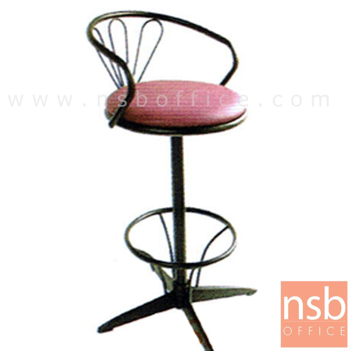 B09A025:เก้าอี้บาร์ที่นั่งกลม รุ่น CS-010 ขาเหล็ก